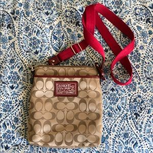 Red Coach Crossbody with Heart Details!